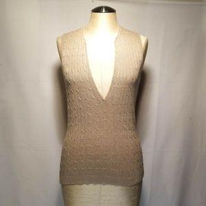 J Crew Sleeveless V-Neck Linen Sweater